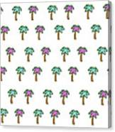 White Epic Palm Tree Print Canvas Print
