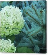 White Flowers W14 Canvas Print