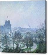 White Frost Jardin Des Tuileries Canvas Print