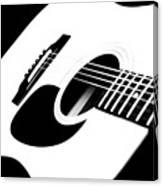 White Guitar 4 Canvas Print