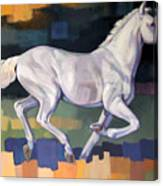 White Horse2 Canvas Print