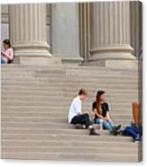 Hanging Out On Steps Canvas Print
