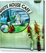 White House Cafe Canvas Print