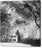 White House In Winter Canvas Print