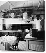 White House Kitchen, 1901 Canvas Print
