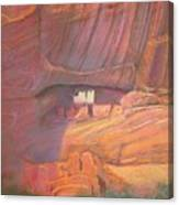 White House Rock  Home Of He Anasazi He Anasazi Canvas Print