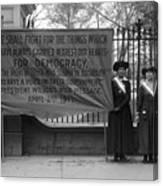 White House: Suffragettes Canvas Print