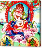 White Jambhala  2 Canvas Print