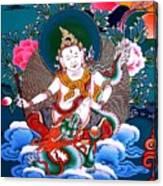 White Jambhala 4 Canvas Print