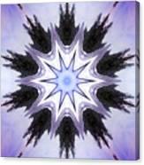 White-lilac-black Flower. Digital Art Canvas Print