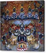 White Mahakala  Canvas Print