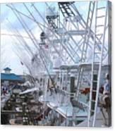 White Marlin Open Docks Canvas Print