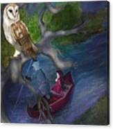 White Owl Magic Canvas Print
