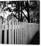 White Picket Fence- By Linda Woods Canvas Print