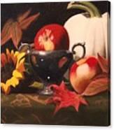 White Pumpkin Still Life Canvas Print