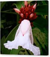 White Rainforest Flower Canvas Print