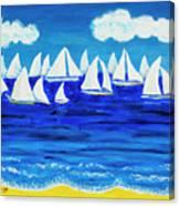 White Regatta 3 Canvas Print