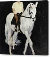 White Ride Canvas Print
