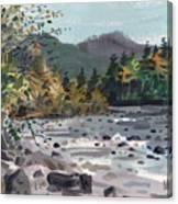White River In Autumn Canvas Print