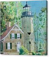 White River Light Canvas Print