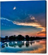 White River Sunset Canvas Print
