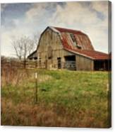 White River Trace Barn 2 Canvas Print