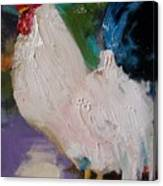 White Rooster Canvas Print