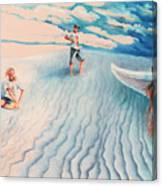 White Sands Family Canvas Print