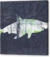 White Shark- Art By Linda Woods Canvas Print