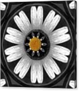 White Shimmering Flower Canvas Print