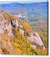 White Side Mountain Fool's Rock In Autumn Canvas Print
