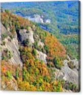 White Side Mountain Fool's Rock In Autumn Vertical Canvas Print