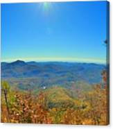 White Side Mountain Nantahala National Forest In Autumn Canvas Print