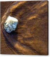 White Stone In Sand Canvas Print