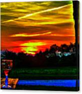 White Sunset Canvas Print