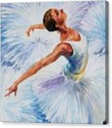 White Swan Canvas Print