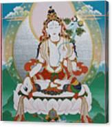 White Tara Chintamani Sita Tara Canvas Print