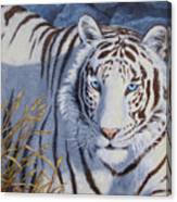 White Tiger - Crystal Eyes Canvas Print