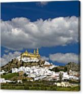 White Town Of Olvera, Andalusia, Spain Canvas Print