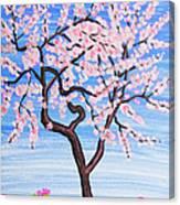 White Tree, Painting Canvas Print