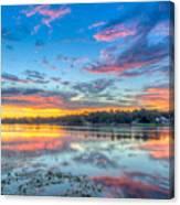 White Trout Lake Sunset - Tampa, Florida  Canvas Print