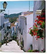 White Village Of Frigiliana Andalucia., Spain Canvas Print