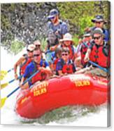 July In Oregon, White Water Rafting Canvas Print