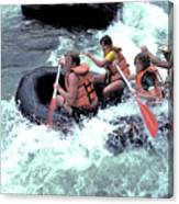 White Water Rafting Canvas Print