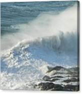 White Wave Sprays Canvas Print