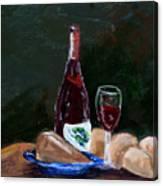 White Wine Canvas Print
