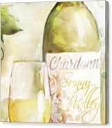 White Wine Watercolor Canvas Print