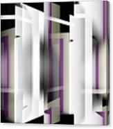 White With Purple Trim Canvas Print