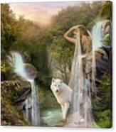 White Wolf Falls Canvas Print