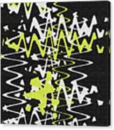 White Yellow On Black Canvas Print